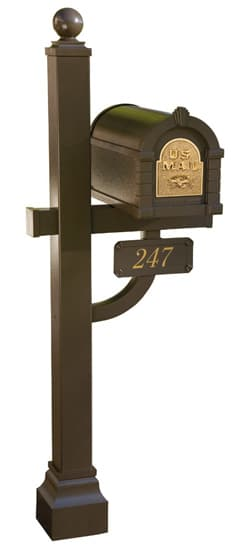 Gaines Original Keystone Mailbox Deluxe Post