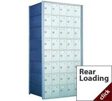 Private Horizontal Rear Loading Commercial Mailboxes