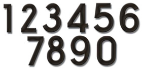 Fuoriserie Ecco 4 Inch House Numbers