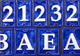 House Numbers And Letters Small Large Oversized - Ceramic street numbers