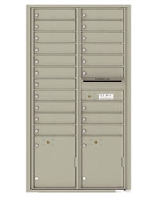 16 - 29 Door 4C Surface Mount Mailbox and Parcel Lockers