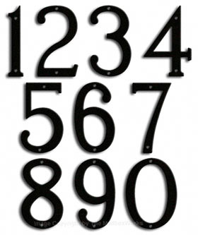 Majestic 8 Inch Modern House Numbers