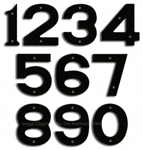 House Numbers And Letters Small Large Oversized - 10 inch metal house numbers