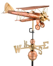 Plane, Train, and Automobile Weathervanes