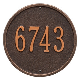 Oval & Round House Address Plaques