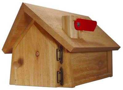 Cedar Wood Chalet Mailboxes Post