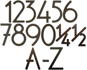 Dark Bronze House Address Numbers Letters