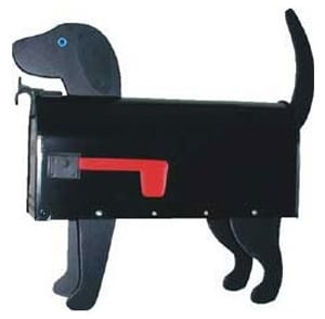 Black Lab Novelty Mailbox