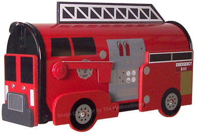 Fire Engine Novelty Mailbox