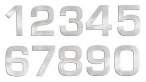 Blomus Signo Stainless House Numbers