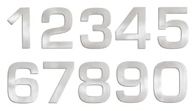 Blomus Signo Stainless Steel 6 Inch House Numbers