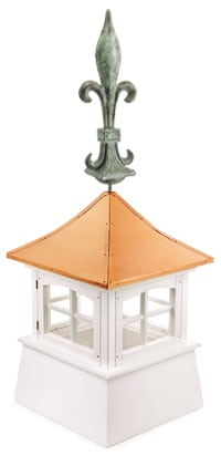 Good Directions Copper Finial Cupola Installation