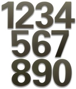 HouseArt Dark Bronze bFuller House Numbers