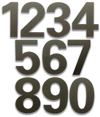 HouseArt Dark Bronze 6 Inch House Numbers