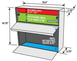 Mail Boss Metro Wall Mount Dimensions