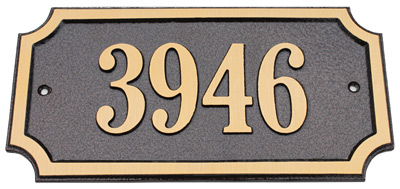 Majestic Solid Brass Chamford Address Plaques