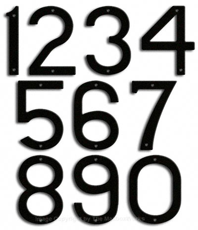 Large Black House Numbers Majestic 10