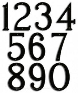 Medium Black House Numbers Majestic 8