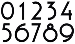 Majestic 6 Inch Black Noble House Numbers
