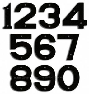 Majestic Small Black House Numbers