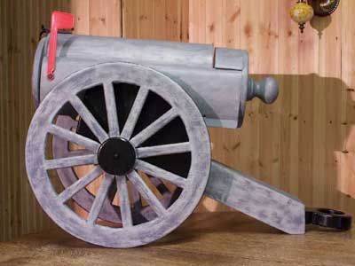 Civil War Cannon Novelty Mailbox