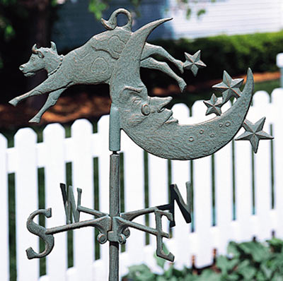 Whitehall Cow Over Moon Garden Weathervane