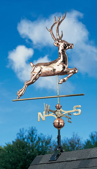 Whitehall Copper Deer Classic Weathervane