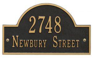 Whitehall Arch Marker Address Plaque