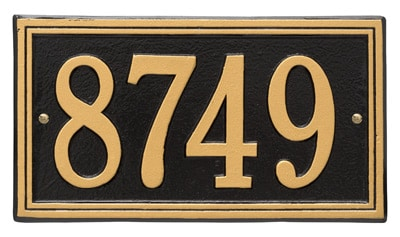 Whitehall Double Line Aluminum Address Plaque
