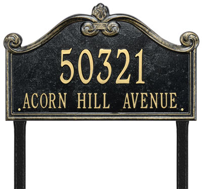 Whitehall Lancaster Rectangle Arch Lawn Address Plaque
