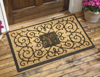 Whitehall Monogram Coir Door Mat