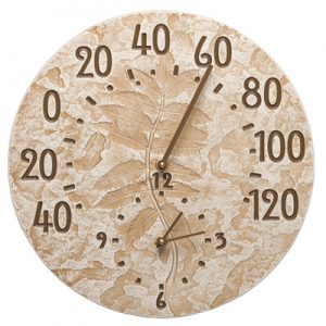 Whitehall Sumac Clock and Thermometer