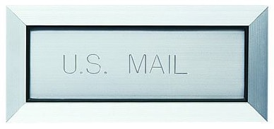 Thru Wall or Thru Door Mailbox Slot & Letter Drop Mailbox Slot by Auth Florence Manufacturing