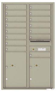 4C14D15 Surface Mount Commercial 4C Mailboxes
