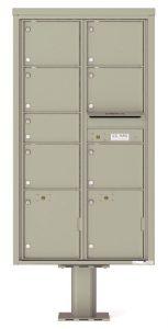 4C16D07-P Commercial 4C Pedestal Mailboxes