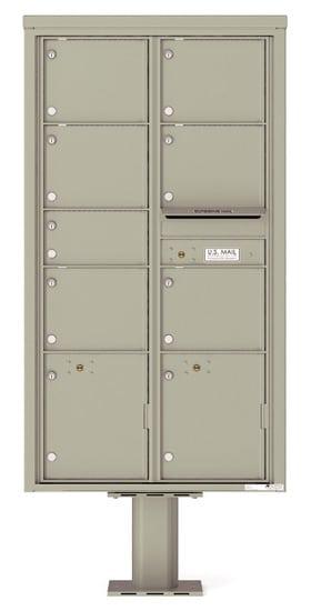 4C16D-07-P Commercial 4C Pedestal Mailboxes – 7 Tenant Doors 2 Parcel Lockers