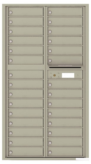 4C16D-29 Front Loading Private Use Commercial 4C Mailboxes – 29 Tenant Doors