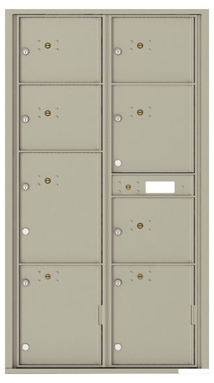 4C16D-8P Front Loading Commercial Surface Mount 4C Parcel Lockers – 8 Parcel Lockers