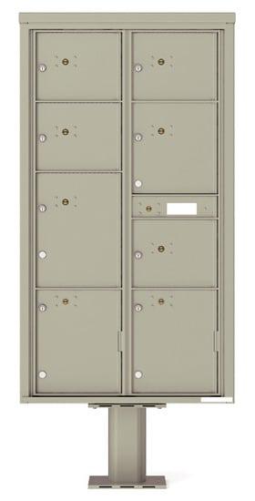 Commercial 4C Pedestal Mailboxes – 4C16D-8P-P 4C Parcel Lockers – 8 Parcel Lockers