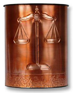 Hentzi Scales Copper Waste Basket