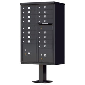 Florence 16 Door CBU Mailboxes Black