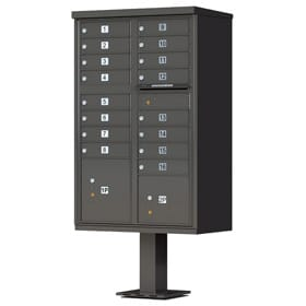 16 Door CBU Mailboxes Dark Bronze