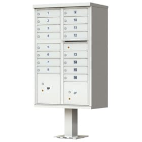16 Door CBU Mailboxes Postal Gray