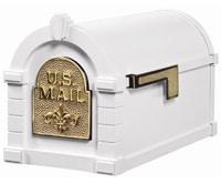 Keystone Fleur De Lis Mailboxes White Brass