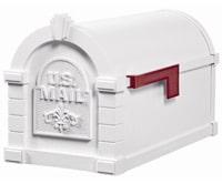 Keystone Fleur De Lis Mailboxes White