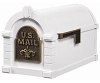 Keystone Fleur De Lis Mailboxes White Bronze