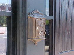 AMCO Colonial Wall Mount Mailbox Installed