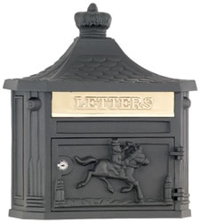 AMCO Victorian Wall Mount Mailbox Black