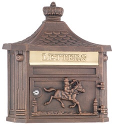 AMCO Victorian Wall Mount Mailbox Bronze
