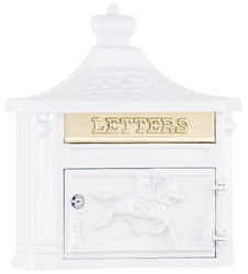 AMCO Victorian Wall Mount Mailbox White